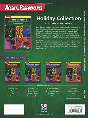 Accent on Performance Holiday Collection: 22 Full Band Arrangements Correlated to Accent on Achievement (Clarinet 1)