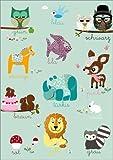 Posterlounge Forex-Platte 30 x 40 cm: Farben Lernen mit Tieren von GreenNest
