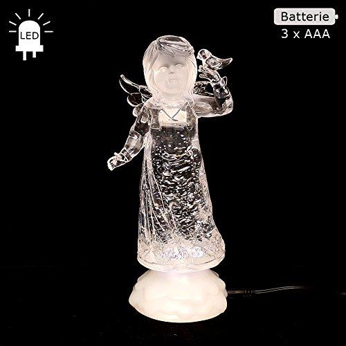 Wunderschöner LED Engel mit Glitterwirbel, ca. 23 cm (Für Fahrrad Engel-lichter)