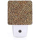 Plug-In-Nachtlicht mit Leopardenmuster, warmweißes Nachtlicht, Dämmerungssensor für Schlafzimmer