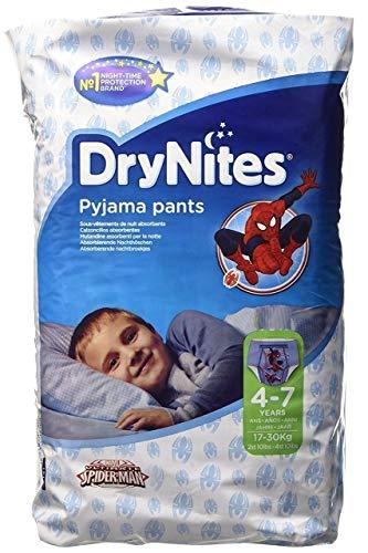 Couches Culottes Huggies DryNites Spiderman 4-7 Ans, 30 par paquets