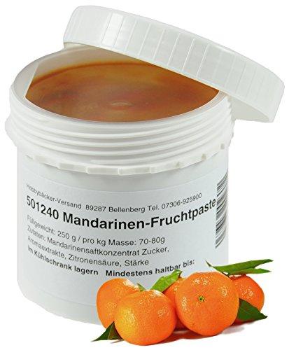 Hobbybäcker Mandarinen-Fruchtpaste ► Zum Verfeinern von Eis, Pralinen, Desserts & Cremes, Süß-Fruchtiges Aroma, 250g