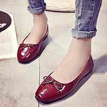 Transer® Mujeres Flats Zapatos Zapatos Zapatos Mocasines planos de deslizamiento en la comodidad