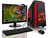 ADMI RD21 Gaming PC Package: Versatile Desktop Computer with 21.5 Inch 1080p Monitor, Keyboard & Mouse Set (AMD A6-6400K 4.1GHz Dual Core CPU with Radeon HD 8470D Graphics, USB 3.0, 500W PSU, 1TB Hard Drive, 8GB RAM, Wifi, Red F3 Gaming Case, Pre-Installed with Windows 10 Operating System)