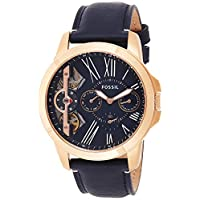 Fossil Grant Chronograph Twist Black Dial Black  Leather Watch for  Men  - ME1162
