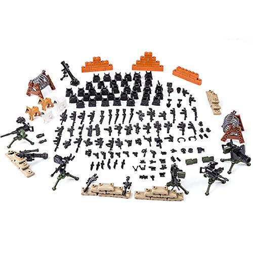 LDB SHOP Custom Military Waffen Set Und Zubehör für Mini Soldaten Figuren Mini Figuren Set Swat Team Kompatibel Mit - Kostüm Military Gun Set