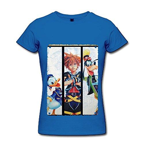 Epsion Classic-Women's Kingdom Hearts III Sora Game Shirt Shirt.