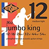 Rotosound Jumbo King Jeu de cordes pour guitare folk Bronze phosphoreux Tirant medium light (12 16 24 32 44 54)