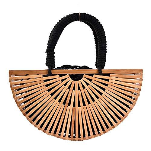 Yunhigh Neue Bambus Handtasche Womens Top Griff Umhängetasche Damen Handtaschen Cross Body Sommer Tote Bag Strandurlaub -