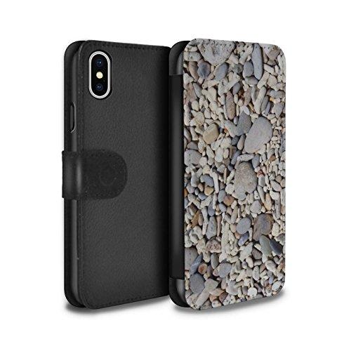 Stuff4 Coque/Etui/Housse Cuir PU Case/Cover pour Apple iPhone X/10 / Pack 15pcs Design / Pierre/Rock Collection Cailloux Lisse