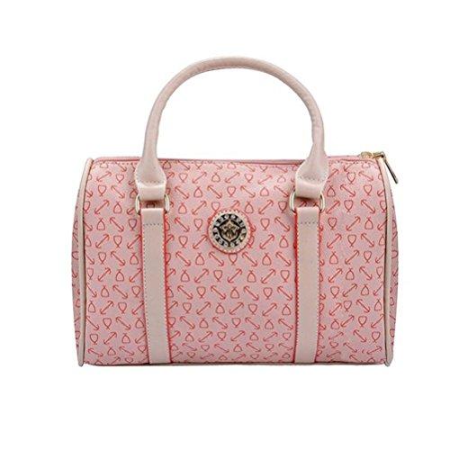 donna pezzi tote Borse Donna borse set Rosa Nero 6 Honeymall 7qIt0nq