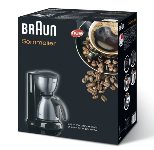 Braun Sommelier KF 610 - coffee maker - metallic/brushed stainless steel