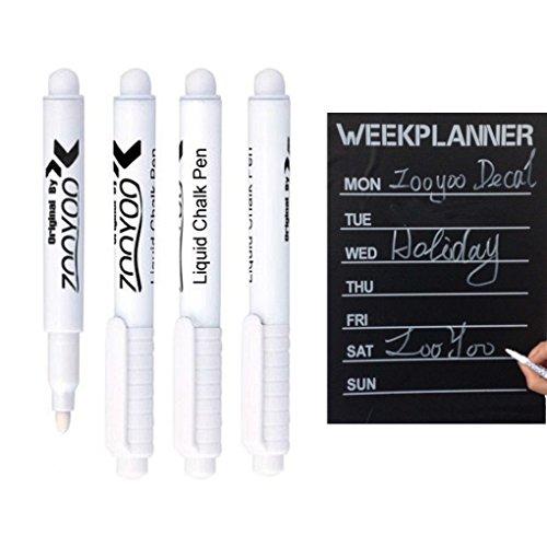 QHGstore 3Pcs weißer flüssiger Kreide Stift für Kindertafel