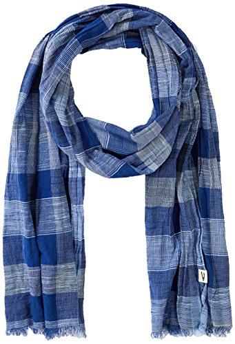 camel active Herren 407110 7V11 Schal, Blau (Mixed Blue Tones 42), One Size