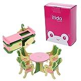 Lamdoo Kid Holz Möbel Puppenhaus Miniatur-Bath Bett Wohnzimmer Kinder Spielzeug Geschenk Random9