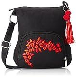 Sling Bag Pick Pocket Women's Sling Bag (Black,Slblkremb24)