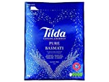 Tilda Gluten Free Pure Easy Cook Basmati Rice for Indian Curries, Biriyani and Pilaf Dishes - 5kg Bag