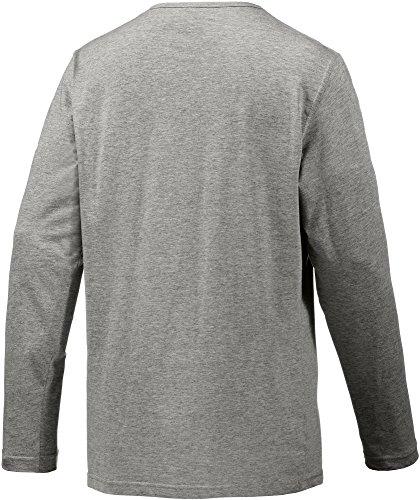 TOM TAILOR Herren Schlafanzugoberteil Shirt, 1/1, 5-knopfv. Dunkelgrau