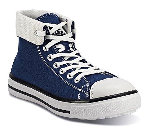 FTG Sicherheitsschuhe Music Blues High S1P SRC, Sicherheitsstiefel Sneaker blau
