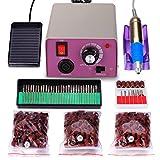 Kit de ponceuse pour ongles électrique professionnelle à faible bruit et à faible vibration 25000 TPM