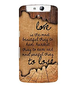 Love Is The Most Beautiful 3D Hard Polycarbonate Designer Back Case Cover for Oppo N1