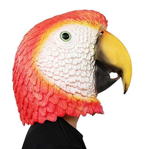 PartyCostume Deluxe Neuheit-Halloween-Kostüm-Party-Latex-Tierkopf-Schablone Masken der Papagei