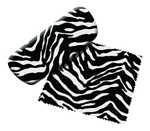 Spoontiques Zebra Brillenetui und Reinigungsmittel