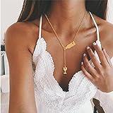LnLyin Damen Halskette Mode Rotweinflasche Wein Halskette Persönlichkeit Wein Tasse Artikel Anhänger