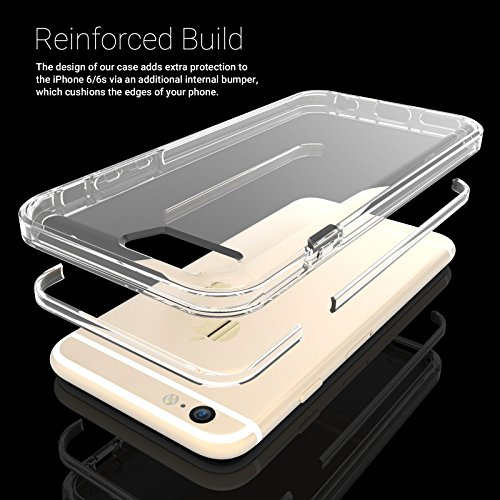 Caseflex Reinforced Cover for Apple iPhone 6+/6s+ Clear Silicone [AP-GA03-Z132] Reinforced Edge - Clear