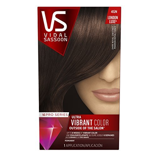 Vidal Sassoon Pro Series London Luxe Hair Color Kit, 4GN Dark Royal Chestnut by Vidal Sassoon