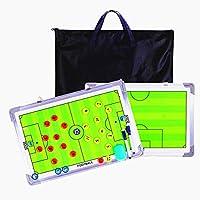 PhantomSky Aluminiumlegierung Fußball Taktiktafel Taktikmappe Coach Board Coach Mappe für die Spielanalyse oder Schulung mit Magnete, Stifte und Radiergummi (Größe: 45cm x 30cm)