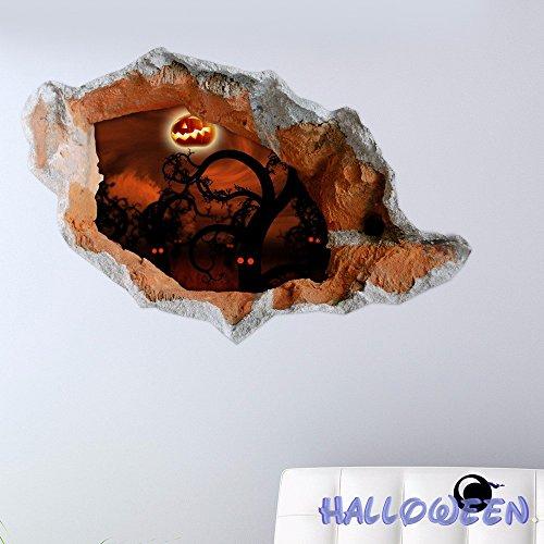 Cartoon dekorative Malerei Schlafzimmer Wohnzimmer Fernseher Sofa Hintergrund HD-Dimensionalen 3D Wall Sticker Wallpaper (Halloween), 80 x 58 - Hd Wallpapers Halloween