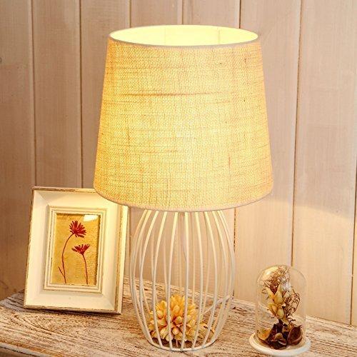 WXBW Tischlampe-Eisenkunst Vogelkäfig Minimalistischen Modernen Lampen Schlafzimmer Wohnzimmer Studie Nachttischlampe Hoch optimierte Effekte