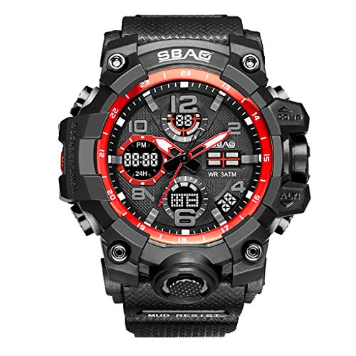 Hupoop sbao sport watch uomo digital led electronic orologi da polso al quarzo tpu (c)