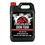 5L of Pro-Kleen Cherry Snow Foam with Wax – Super Thick & Non-Caustic Foam – Extremely Powerful & Easy To Use (5L Cherry)