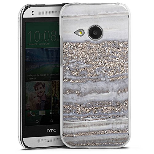 HTC One mini 2 Hülle Case Handyhülle Glitzer Look Marmor Marble