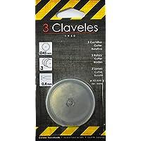 3Claveles 240 - Set de 3 cuchillas para cúter rotativo
