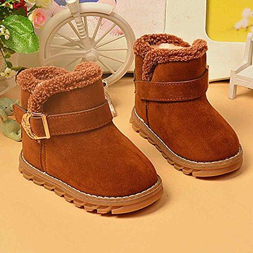 Hunpta Mode Winter Baby Kind Stil Brief Stiefel warme Schnee Baumwolle Stiefel (Alter: 18-24M, Hot Pink) Braun