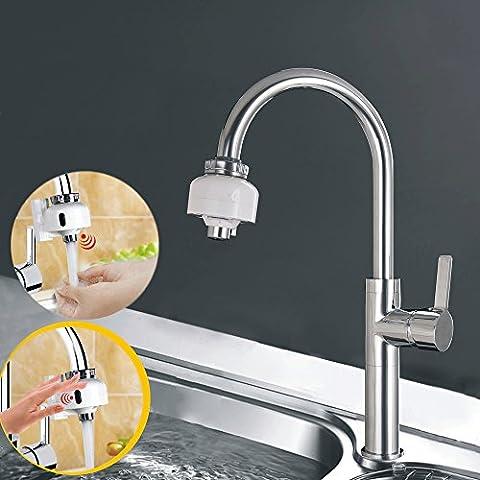 Wetercos (TM) double Montage automatique sans contact détecteurs de mouvement rapide robinet économiseur d'eau adaptateur de robinet pour n'importe quel robinet d'évier de cuisine salle de bain