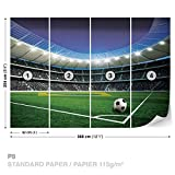 Papier peint photo stade de football murale, XXL - 368cm x 254cm