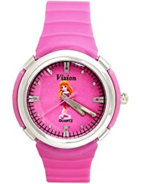 Vizion Analog Hot-Pink Dial (CINDERELLA-The Pink Shoes Princess ) Cartoon Character Watch for Kids-8828-4-1
