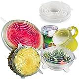 Anpro 7 Stück Silikondeckel Dehnbare Frischhalte Deckel Verschiedenen Größen Silikon deckel Set für Gemüse, Becher, Töpfe, Tassen, Obst