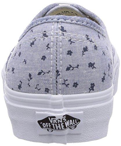 Vans U AUTHENTIC (MIXED CHAMBRAY) Unisex-Erwachsene Sneakers Blau ((Mixed Chambray EH2)