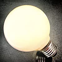 jiayoujia LED E27Lampadina 6W globo in bianco caldo G125