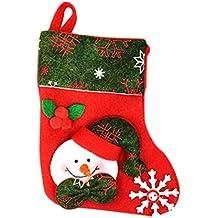 Leisial™ Botas de Calcetines de Navidad Colgante Calcetines de Navidad de Santa Claus Muñeco de