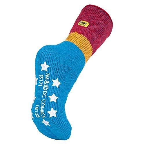 HEAT HOLDERS Thermal Winter Warm Lizenzierte Charakter Slipper rutschfeste Gripper Socken UK 4-8, EUR 37-42 (Wonder woman)