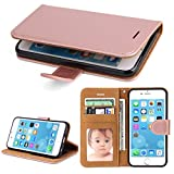 SOWOKO iPhone 6 Hülle, iPhone 6S Hülle, Leder Etui Flip Case Handyhülle für iPhone 6/6S Wallet Tasche mit Integrierten Kartensteckplätzen und Ständer/Magnetverschluss, Rose Gold