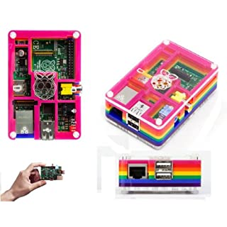 Raspberry Pi Model B and Pibow Licensed Case Pi Enclosure Supplied by ASCl