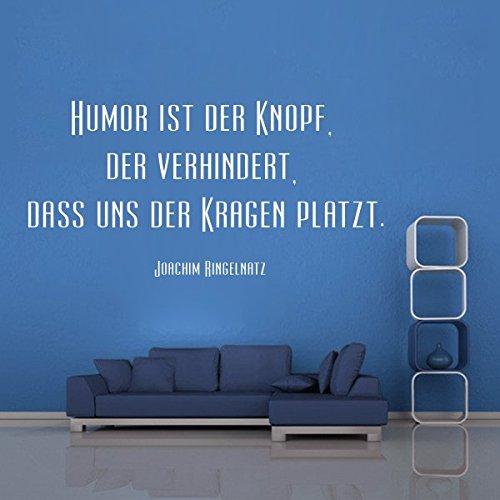 denoda Humor ist der Knopf, der verhindert. - Wandtattoo Gold 203 x 100 (Wandsticker Wanddekoration Wohndeko Wohnzimmer Kinderzimmer Schlafzimmer Wand Aufkleber)