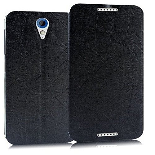 Heartly Premium Luxury PU Leather Flip Stand Back Case Cover For HTC Desire 620 620G 820 Mini Dual Sim - Best Black